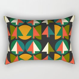 Retro Christmas trees Rectangular Pillow