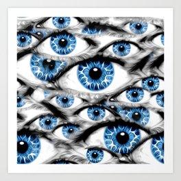 Blue Eyes Open Art Print