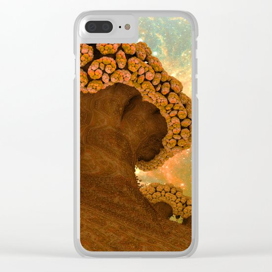 Broccoli Planet in Fall Clear iPhone Case