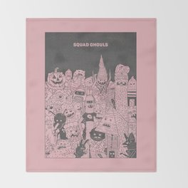 Squad Ghouls Throw Blanket