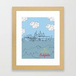 Zissou Boat Framed Art Print
