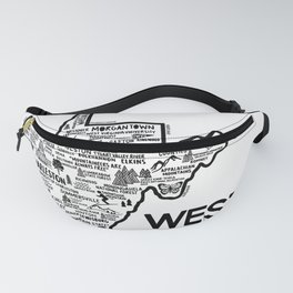 West Virginia Map Fanny Pack