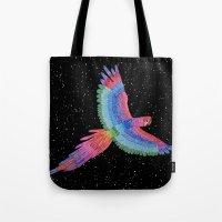 parrot Tote Bags featuring Parrot by Luna Portnoi