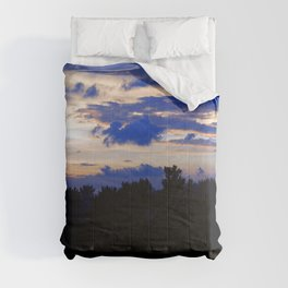 Colorful Tropical Sunset Nightfall Forest Comforters