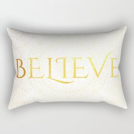 Believe - Gold Rectangular Pillow