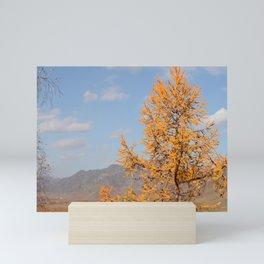 autumn Altai Mountains Mini Art Print
