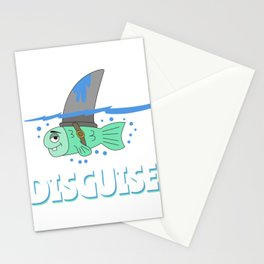 Funny Disguise Tshirt Design SHARK DISGUISE Stationery Cards