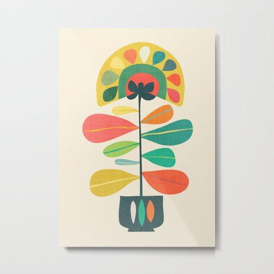 Fan Flower Metal Print
