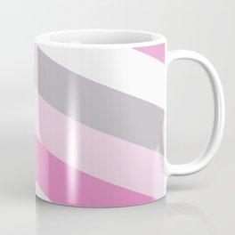 Pink and gray chevron Coffee Mug