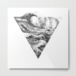 Elemental Alchemy: Water Metal Print