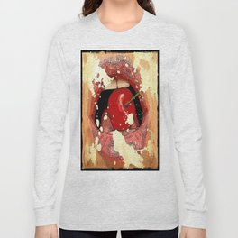 Red Cherry Lips Long Sleeve T-shirt