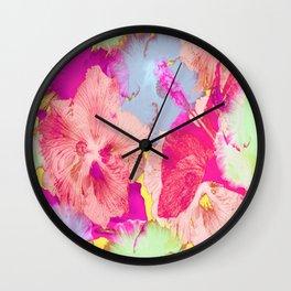 Hibiscuses Wall Clock