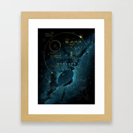 Infographic Variant - Voyager and the Golden Record - Space | Science | Sagan Framed Art Print