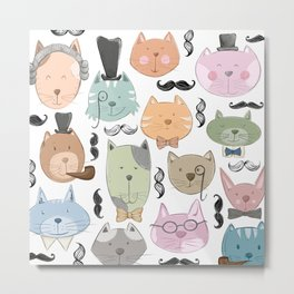 Aristocats Pattern Metal Print