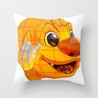 korean Throw Pillows featuring Korean Lantern  by Benedict Middleton