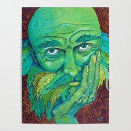 The Greenman by Mary Bottom Poster
