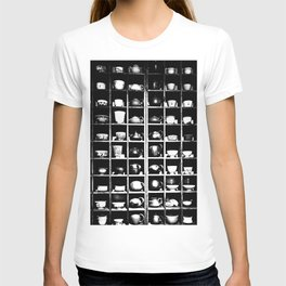 Teapots and Cups in Black and White #decor #society6 #buyart T-shirt