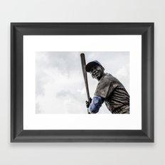 Ernie Banks Statue - Wrigley Field Framed Art Print
