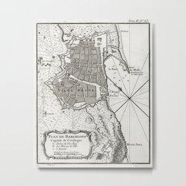 Plan of Barcelona - 1764 Metal Print