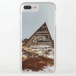 Icelandic Asymmetrical A-Frame Cabin Clear iPhone Case