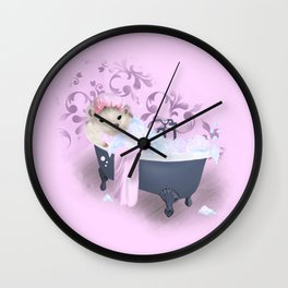 Hedgehog Bubble Bath Wall Clock