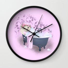 Hedgehog Bubble Bath Wall Clock