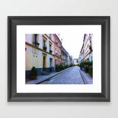 Paris Side Street Framed Art Print