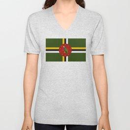 Dominica Flag Unisex V-Neck
