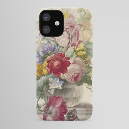 Herman Henstenburgh - Flowers In A Glass Vase With A Butterfly iPhone Case