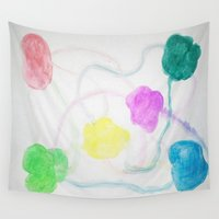 balloons Wall Tapestries featuring Balloons  by Danielle Gensler