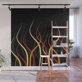 Burning Wall Mural