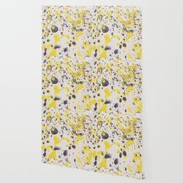 Yellow Grey Classic Abstract Art Wallpaper