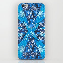 Christmas background pattern iPhone Skin