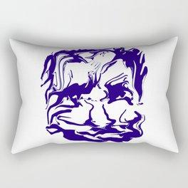 face13 blue Rectangular Pillow