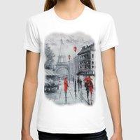 paris T-shirts featuring Paris by OLHADARCHUK