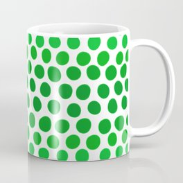 Apple Green and White Dots Ombre Coffee Mug