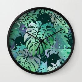 Monstera Monsters Wall Clock