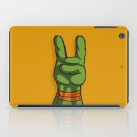 ninja turtle iPad Cases featuring Teenage Mutant Ninja Turtle Hand by MONDOBITGO