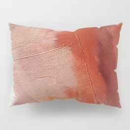 Desert Journey [1]: a textured, abstract piece in pinks, reds, and white by Alyssa Hamilton Art Pillow Sham