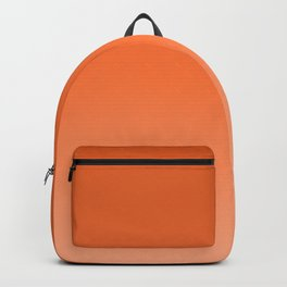 Sunny tangerine, gradient, Ombre. Backpack