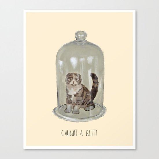 Caught a Kitty Canvas Print