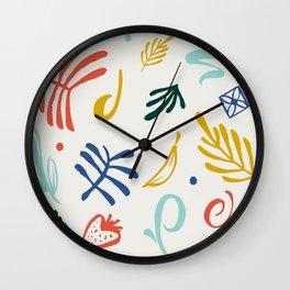 Vintage Plants Wall Clock