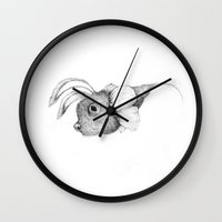 mouse Wall Clocks featuring mouse by Andreas Derebucha