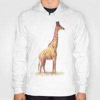 giraffe Hoodies featuring Fashionable Giraffe by Terry Fan