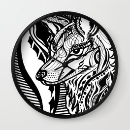 Sovereign Wolf Wall Clock