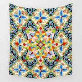 Elizabethan Blossom Starburst Wall Tapestry
