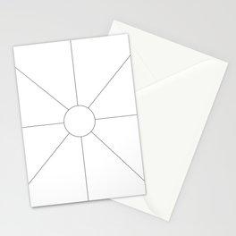 Line Sun Stationery Cards