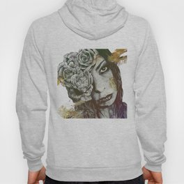Of Suffering: Autumn (dark lady portrait with roses) Hoody