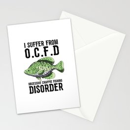 I Suffer From Obsessive Crappie Fishing Disorder T Shirt Stationery Cards