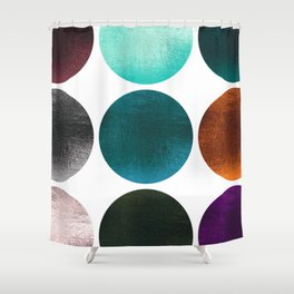 Colorful Gold texture Dots Shower Curtain
